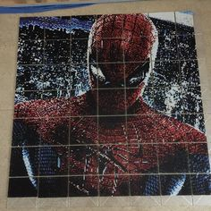 Spiderman perler pixel art by Daniel Gustafsson