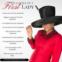 Great information for first ladies or minister's wives! Qualities of a first lady! www.shavarnsmith.com #marriage #ministry #christianblogger