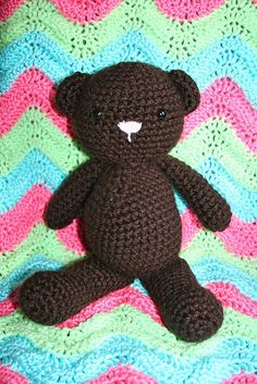 Free crochet teddy bear & afghan patterns