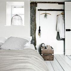 Minimal plain white bedroom | White bedroom design ideas | Bedroom | PHOTO GALLERY | Livingetc | Housetohome.co.uk