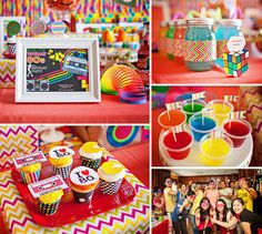 It's a Radical 80′s Themed 30th Birthday by Rima Tan with totally tubular ideas and loads of colorful eye candy!
