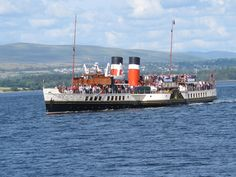 PS Waverley, steaming in the Clyde just off Gourock, 2012.