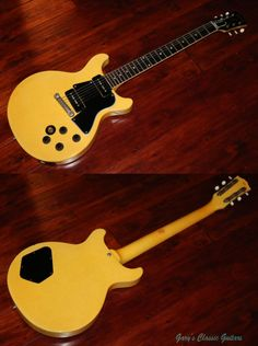 1959 Gibson Les Paul TV Special, TV Yellow finish, Big full 59' Neck profile, Original Large Frets, Brazilian Fingerboard, Two P-90 pickups, Stop tail piece, Original Strap, One owner, Very cool guitar!!!, EC, OSSC, $11,900