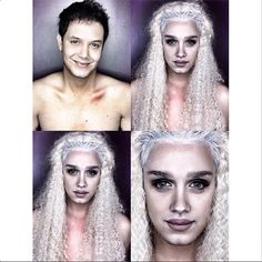 These Makeup Transformations Are Crazy Good #refinery29  http://www.refinery29.com/2014/10/75801/paolo-ballesteros-celebrity-inspired-makeup-transformations#slide1  Khaleesi from Game of Thrones.