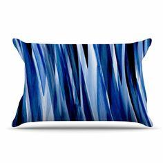 Kess InHouse Nina May Extract Blue White Digital Throw 40 x 30 Fleece Blanket
