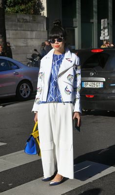 Paris Fashion Week, Marine trend, Susie Bubble of Stylebubble, image by StunningStreetstyle