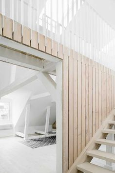 BEELDSTEIL.com Swedish Loft Apartment by Studiomama A great renovation project: two loft apartments on the top of a 300 year-old building in Stockholm..