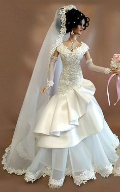 Barbie, Princess Gowns, Here Comes The Bride, Bridal Gowns, Victorian, Dolls, Beautiful, Dresses, Fashion