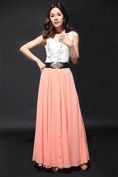Chiffon Wedding SkirtSpring Long Skirt Maxi Dress by dresstore2000