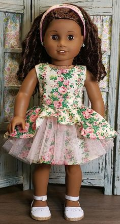 DOLL CLOTHES 4  AMERICAN GIRL   short skirt corduroy hot pink