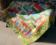 Easy Peasy Strip and Fat Quarter Quilt