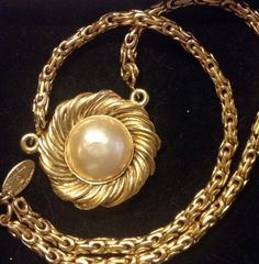 Authentic Chanel flower pearl pendant / charm short by JijiVintage, €419.00