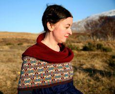 Sixareen Cape by Kate Davies - Jamieson and Smith, Real Shetland Wool, Fair Isle Knitting, Shetland Wool, Knitting Patterns, Yarn