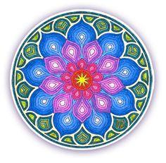 Mandala: mosaic design for white table? Mandala Art, Crochet Mandala, Fractal Art, Fractals, Great Tattoos, Awesome Tattoos, Simple Shapes, Sacred Geometry, Coloring Pages