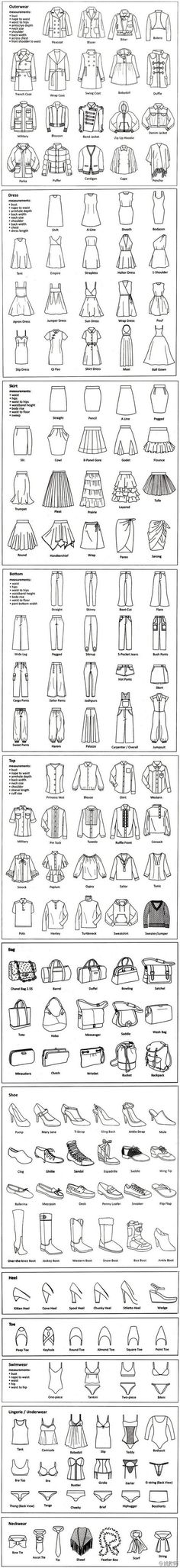 Fashion Terminology: Pin this so that you always have the correct fashion terminology when you want to do a query. Fashion Terminology: Pin this so that you always have the correct fashion terminology when you want to do a query. Fashion Flats, Diy Fashion, Fashion Tips, Fashion Clothes, Trendy Fashion, Fashion Women, Dress Fashion, Fashion Outfits, Fashion Ideas