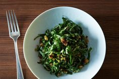 Swiss Chard Salad with Garlic Breadcrumbs and Parmesan