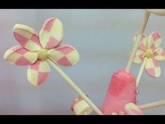 Flores de Marshmallows o nubes o malvaviscos o bombones. Marshmallow flowers - YouTube