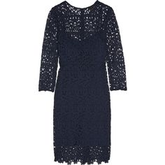 J.Crew - Cadenza Guipure Lace Dress ($140) ❤ liked on Polyvore featuring dresses, navy, navy cocktail dress, navy dress, j crew cocktail dresses, preppy dresses and sequin lace dress