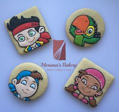 Jake and the Neverland Pirates party favor sugar cookies (2 dozen) FREE SHIPPING de MarianasBakery en Etsy https://www.etsy.com/es/listing/252978361/jake-and-the-neverland-pirates-party