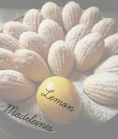 Ah lemon madeleines...soft, fluffy, buttery, lemony little cakes. Perfect companion for afternoon tea.