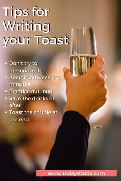 Here are some tips to nail your toast to the happy couple!