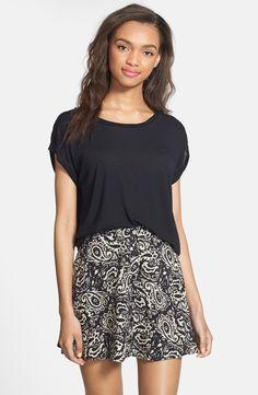 Top pinned Skater skirt