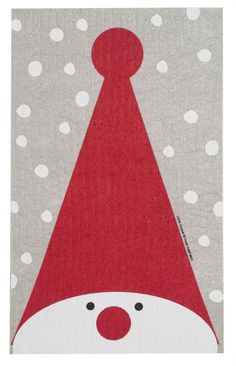 Discover the Swedish Dishcloth - Tall Hat Tomte - 9 inch x 6 inch - Wiping up never looked this good.absorbs 15 times it weight in water! Christmas Card Crafts, Homemade Christmas Cards, Xmas Cards, Christmas Art, Christmas Projects, Handmade Christmas, Holiday Crafts, Christmas Decorations, Winter Crafts For Kids