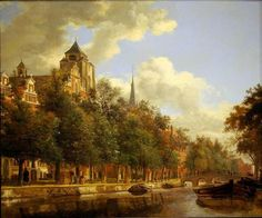 Jan van der Heyden – George M. and Linda H. Kaufman Collection (at the National Gallery of Art). An Amsterdam Canal View (c. 1670)