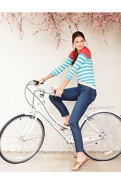 Breton Stripes Back-Button Sweater  Talbots