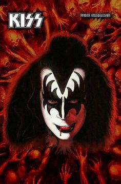 Kiss World, Gene Simmons Kiss, Band Wallpapers, Kiss Band, Hot Band, Star Children, Rockn Roll, Classic Rock, Makeup Art
