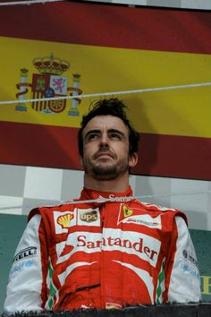 Fernando Alonso on the podium - 2013 Canadian GP