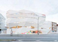Inspiring Office Design by Vodafone Headquarters : Vodafone Headquarters Design With Clear White Building Color Decoration