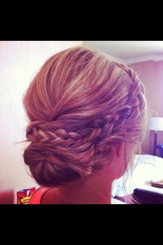 Updo-bridesmaid hair