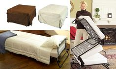 Groupon - From $ 129 for a Folding Ottoman Single Sofa Bed with Choice of Three Slip Cover Colours. Groupon deal price: $129