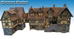 World building concept. structure. tavern. inn. house. Miniature Warfare: Medieval