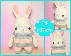 PDF Pattern  Rabbit Crochet Pattern Bunny Crochet Pattern