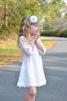 Hey, I found this really awesome Etsy listing at https://www.etsy.com/listing/226657905/white-lace-flower-girl-dress-lace-dress