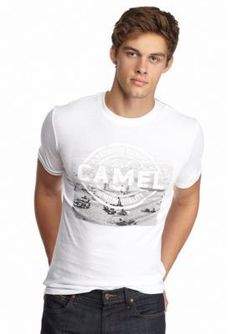Red Camel  Short Sleeve Premium Quality Beach Scene Graphic Tee