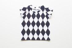 Black diamond baby t-shirt, toddler t-shirt, baby boy t-shirt, baby girl t-shirt, black and white t-shirt, baby gift, monochrome clothes