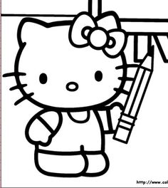 Free Printable Kitty Coloring Pages For Kidsthis Time In Hello We Bring Entertainment And Joy To The Children Drawing