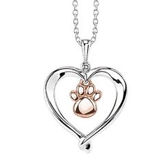 Hurst Favorites Kissing Hearts Paw Pendant With Diamond Accent