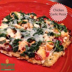 Garlic Chicken Pizza on a Cauliflower Crust | Metabolic Research Center