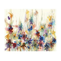 Spring Drops Canvas Wall Art ($223) ❤ liked on Polyvore featuring home, home decor, wall art, spring wall art, floral wall art, canvas home decor, home decorators collection and floral home decor