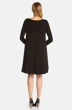 Karen Kane Black Embellished Cuff Swing Dress | Nordstrom #Karen_Kane #Black #Embellished #Cuff #Swing #Dress #Fashion #Nordstrom