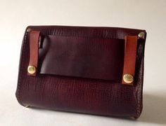 Brown Leather Hip Bag by fortunamonsoonshop on Etsy