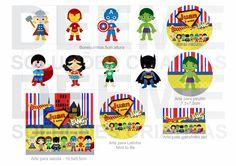 convite de aniversario SUPER HEROI - Buscar con Google