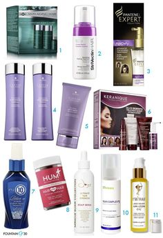 11 Anti-Aging Hair Products collage of boxes of shampoos purple bottles conditioners spray top trreatments Best Anti Aging, Anti Aging Cream, Anti Aging Skin Care, Beauty Hacks Eyelashes, Best Hair Care Products, Curl Products, Hair Porosity, Cool Hairstyles, Collage