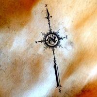#little #compass #tattoo