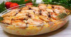 Vă prezentăm astăzi, drag amator ale bucatelor delicioase, o rețetă extraordinară de aripioare de pui cu orez la cuptor. Veți obține un prânz sățios, gustos și aromat, perfect pentru a fi servit într-o zi de weekend alături de familia dragă. Chiar dacă este pregătit din cele mai banale ingrediente, obțineți un deliciu cu un gust ispititor și aroma irezistibilă. Încercați, testați și serviți cu mare plăcere alături de o salată de vară sau niște castraveți murați. INGREDIENTE –700 g aripi… Fun Cooking, Potato Salad, Shrimp, Chicken Recipes, Bacon, Food And Drink, Potatoes, Meat, Vegetables