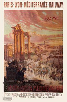 Rome vintage travel poster, ca. 1900